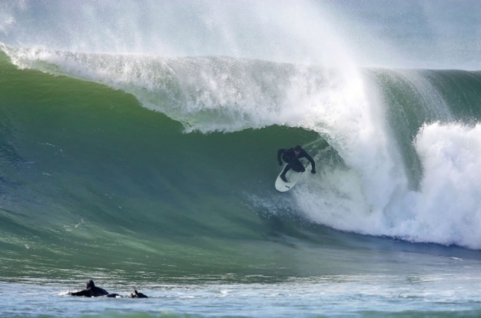 Just one of 2010's south coast super swells ... Porthleven