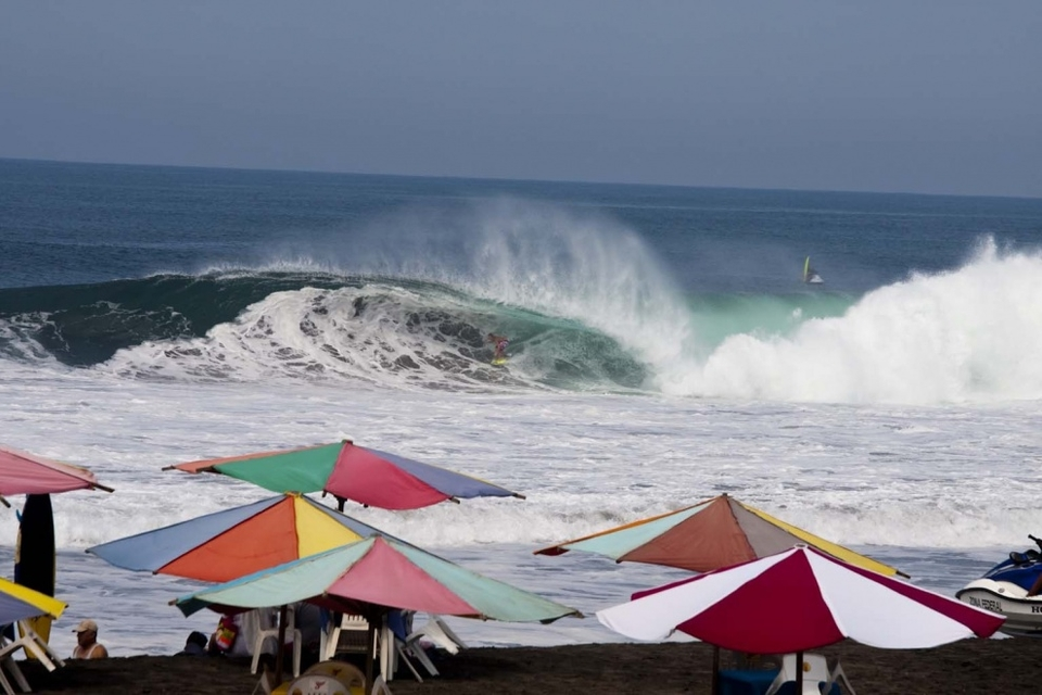 Jamie O'Brien on a frothy one deep down in Mexico.