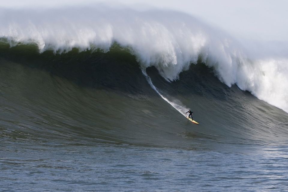 Shawn Dollar officially surfed into the record books for riding a paddle-in wave judged to be 55 feet on the face to win the Monster Paddle Award.  The previous Guinness Book best was held by Californian Taylor Knox for a 52-foot wave ridden at Todos Santos, Mexico in 1998.