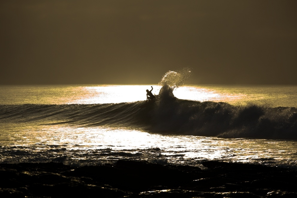 Same deal with a sunrise carve, no-one but you, the photog and the sharks.