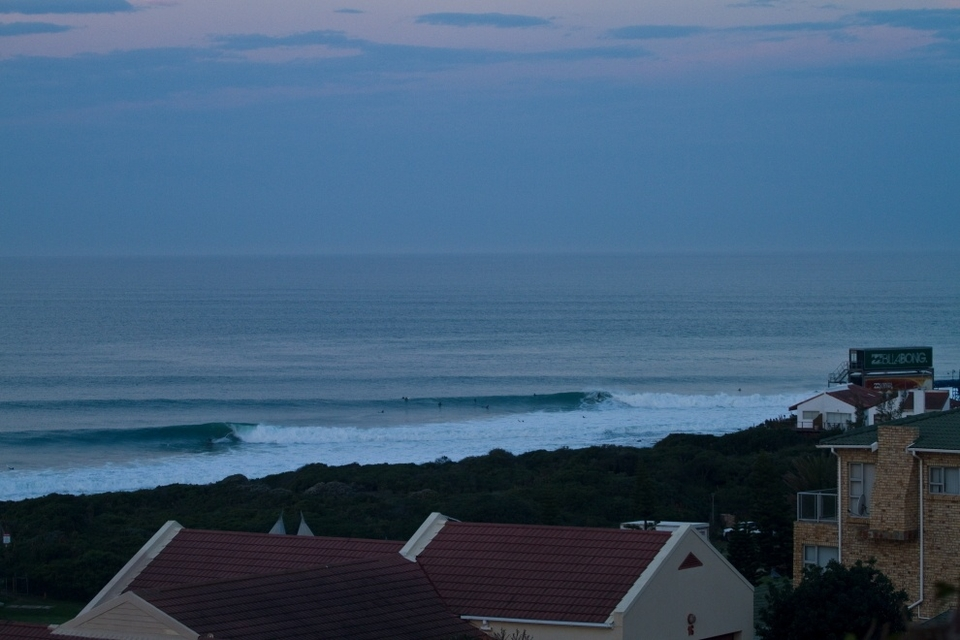The late evening view from our host's house at  Livethelife.tv .    Not a bad place for an AM surf check either.