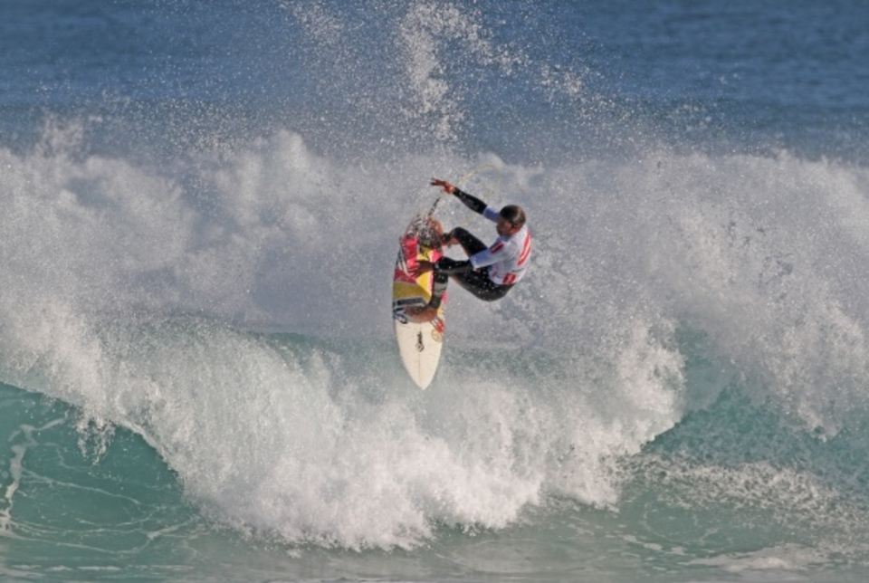 Ty Watson executing his outstanding aerial move to win today's final of the Fantastic Noodles Pro Junior.