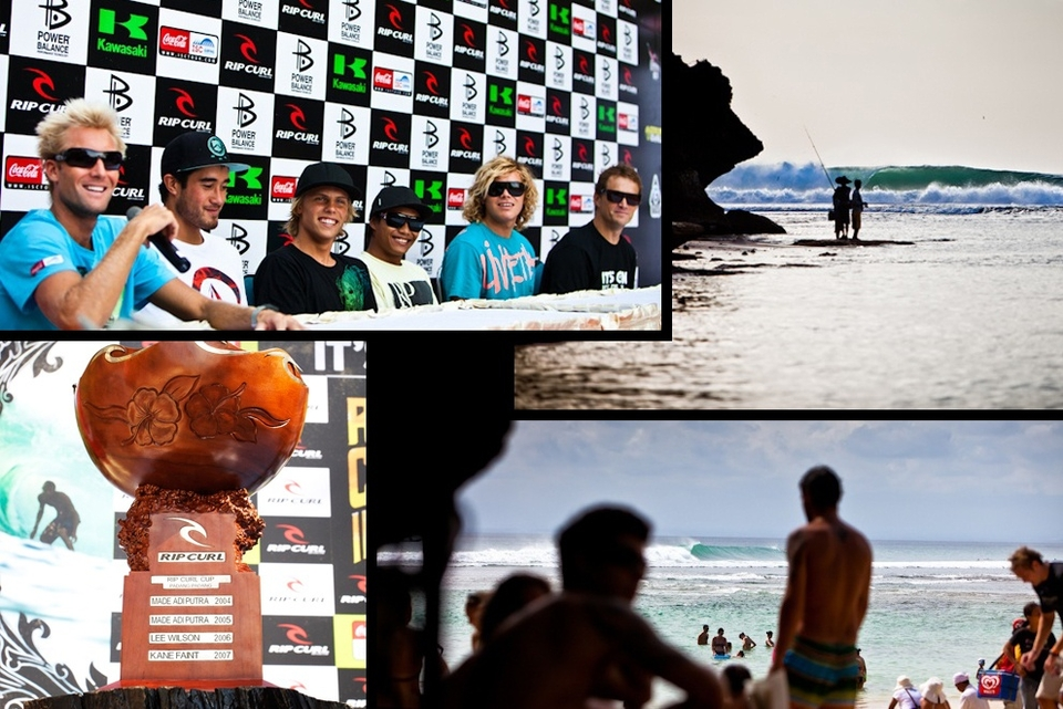IT'S ON, the  Rip Curl Cup  at Padang Padang. Thirty two of the world's best tube riders need only one day for Padang to breathe its hollow call. On 24 hours notice they're waiting on magicseaweed and Ripcurl to make the call.    Padang Padang is a funny old wave, up there with any wave in the world for heavy and round but it really needs a swell of consequence to get it going. Up until it's overhead it's just not Padang and then the magic happens.    Rip Curl has set aside a five-week waiting period to hold the