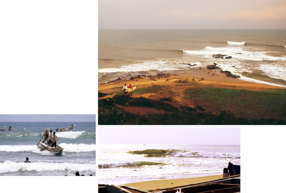 The next state north is Andhra Pradesh. South of Visakhapatnam, the marshy, sandy delta of the  Krishna River