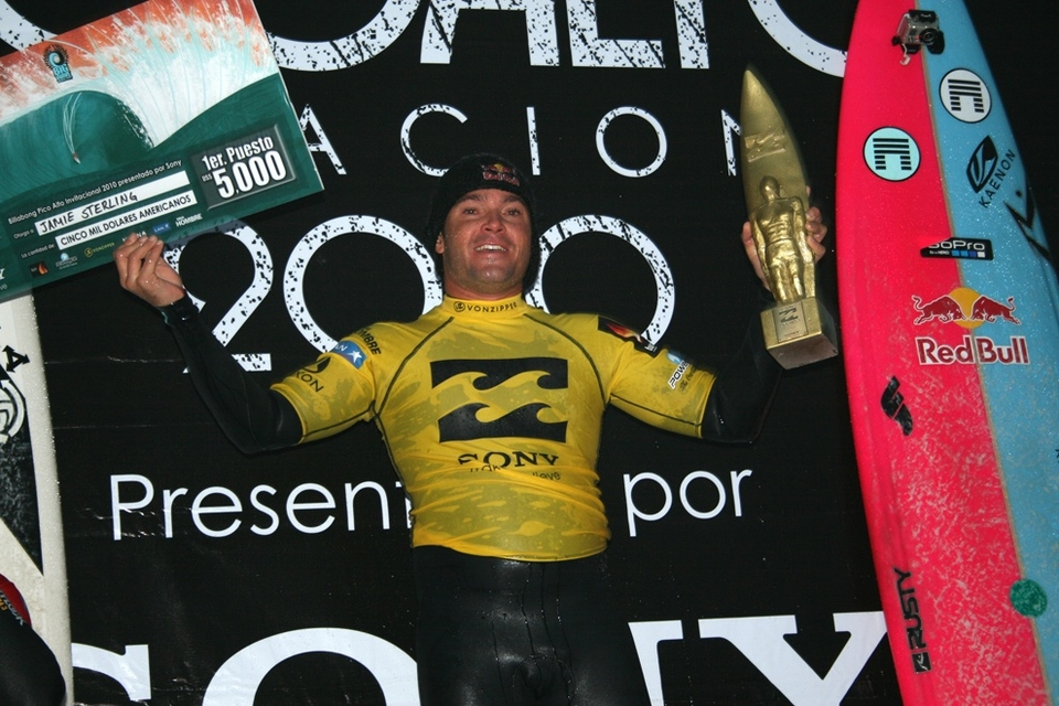 JAMIE Sterling becomes the Big Kahuna with maiden  Big Wave World Tour  win at Peru's Pico Alto.