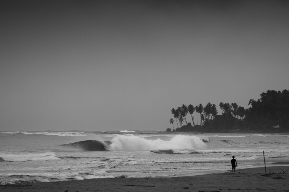 Empty peaks scattered along the coast, a solitary surfer decides to investigate.