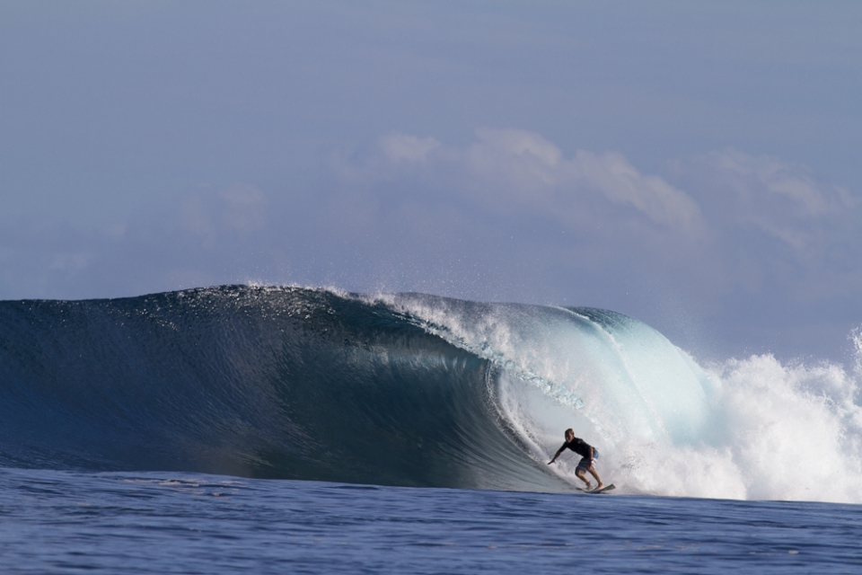 Some solid back to back swells kept things interesting in 2013. T Bags handles up to 10ft… for those willing.