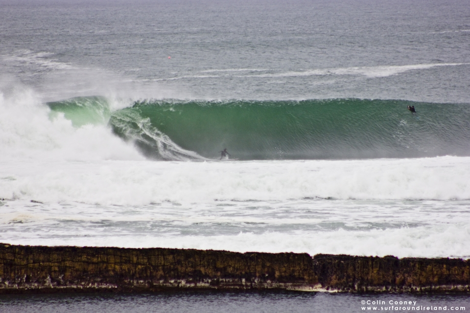 Barry Mottershead on a wave which warped so hard the big board just weirded out.