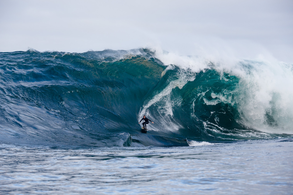 It was one of those waves were you go: Oh shit!  He's fucked here. Mikey Brennan raises the heart rate.