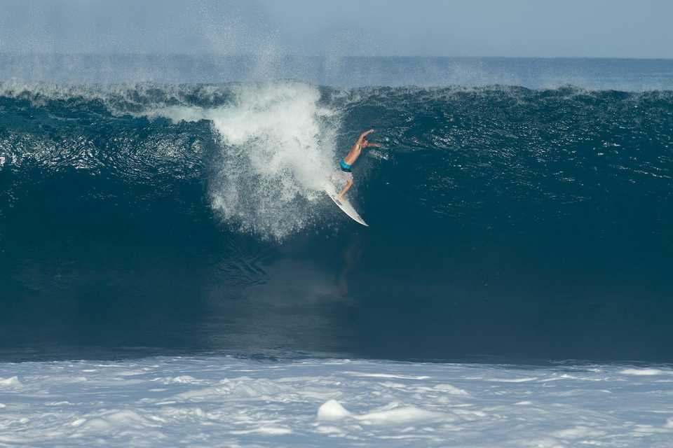 Safely qualified for the 2014 World Tour, CJ Hobgood has nothing to do but get barrelled.