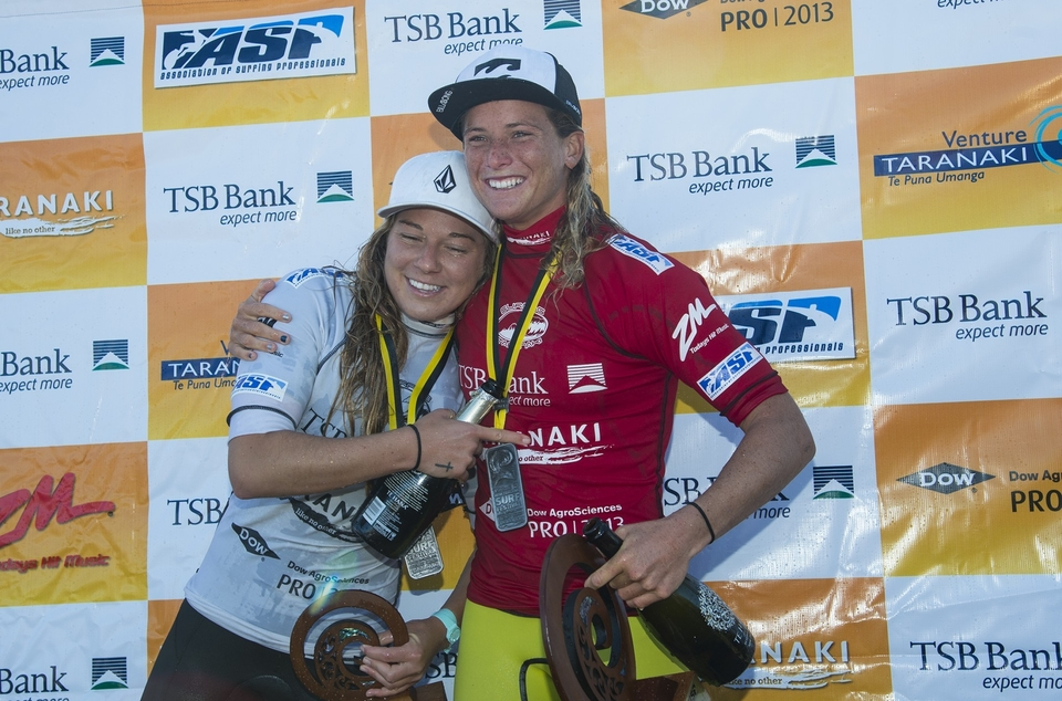 Courtney and Coco Ho sharing the stoke and strength and depth at the top of the ASP World Tour