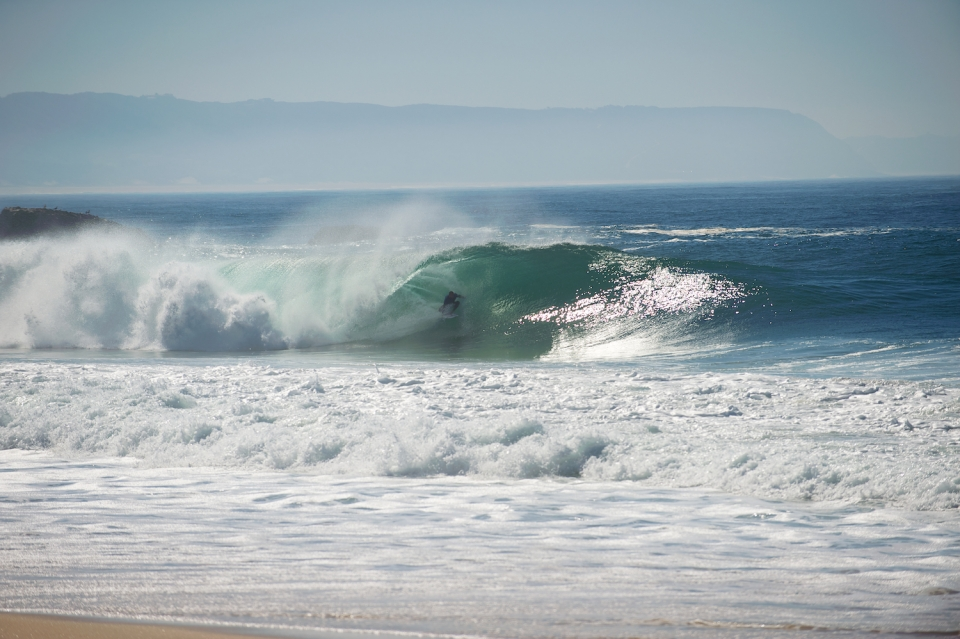 On the the second day the conditions calmed down, the 'CT scuttled off, and the barrels stayed open.