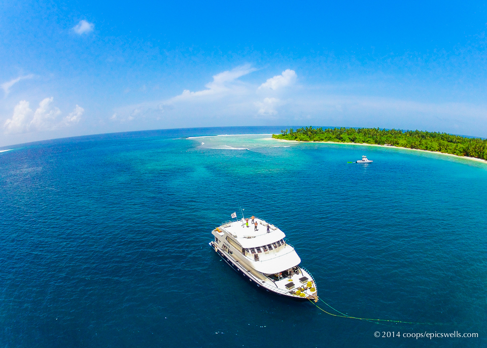 The Haira anchored in The Central atolls late in June