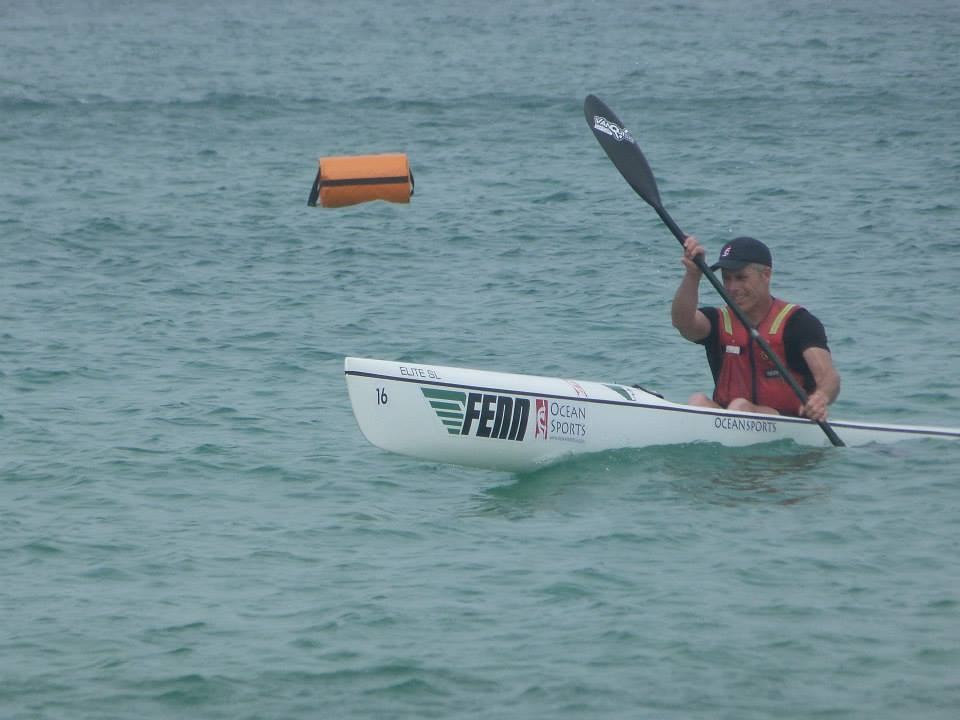 European and world surf ski medallist, Glenn Eldridge, will be leading by example, having already crossed this stretch of water.