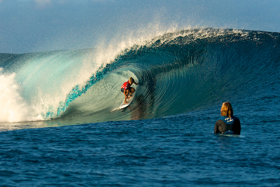 Ace Buchan at Teahupoo ... The women need waves like this on their tour