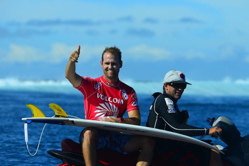 """I had some really slow heats throughout the event, but making it that far, you always want to make the final,"" Hobgood said. ""Mick and I actually had some good waves in that heat finally, and he just got me at the end. It's a bummer to lose at the end of the heat like that, but congrats to Mick on the win."""