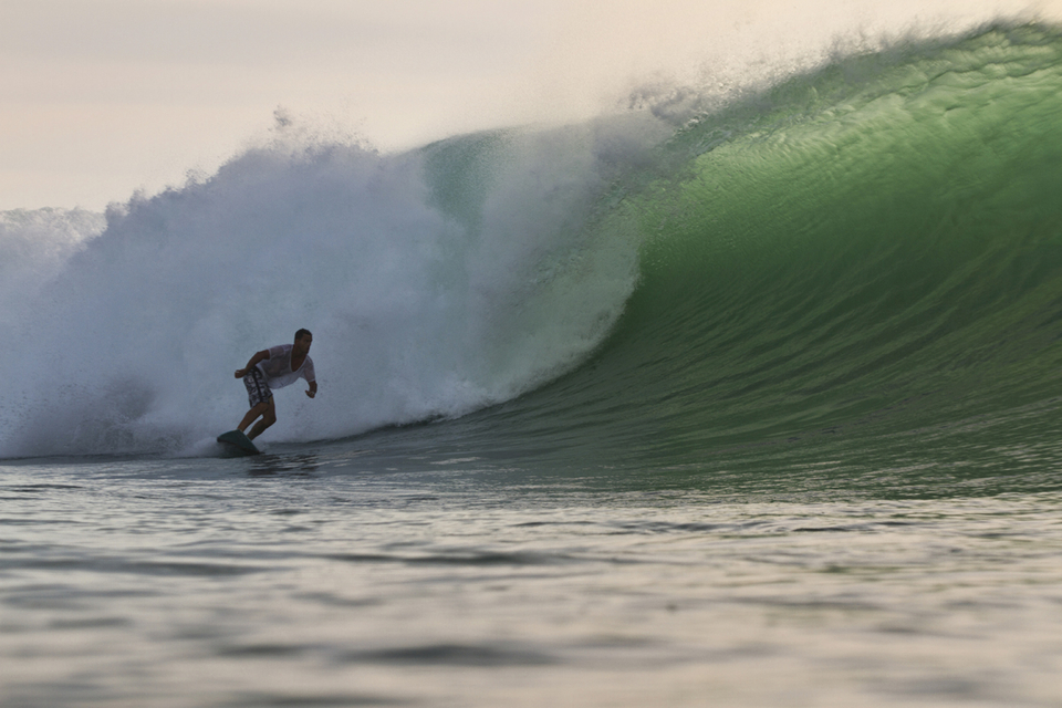 Nathan White, eyes on the prize at Padang.