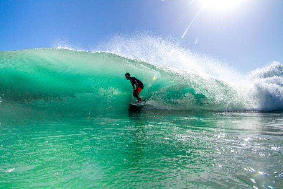 Bluff specialists such as Danny Hanna know the wave inside out and reap the benefits on clean offshore mornings.