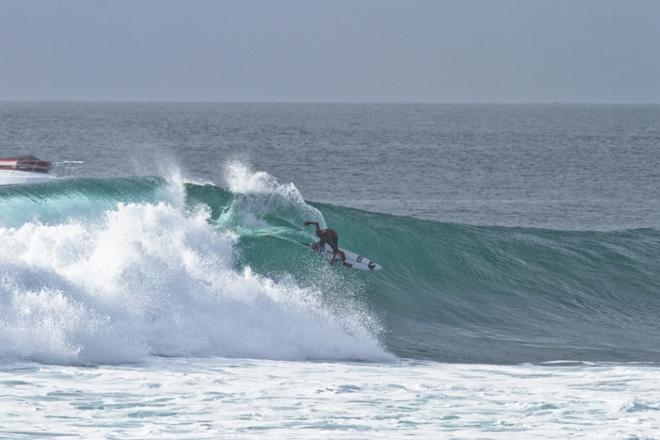 Winner of the Occy grom comp, 15-year-old Reef Doig.