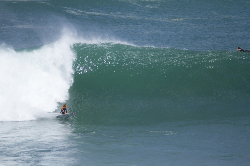 Jack Robinson has been charging at the peak of the swell for the previous two days.