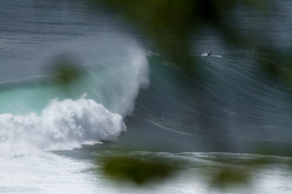 The Outside Corner of Ulus was working if you had the nuts for it.  This only breaks on big swells, and on a low tide. Its like a weird combo of racetracks and middle peak. Hollow, but sectiony hollow, rather than say Cloudbreak.