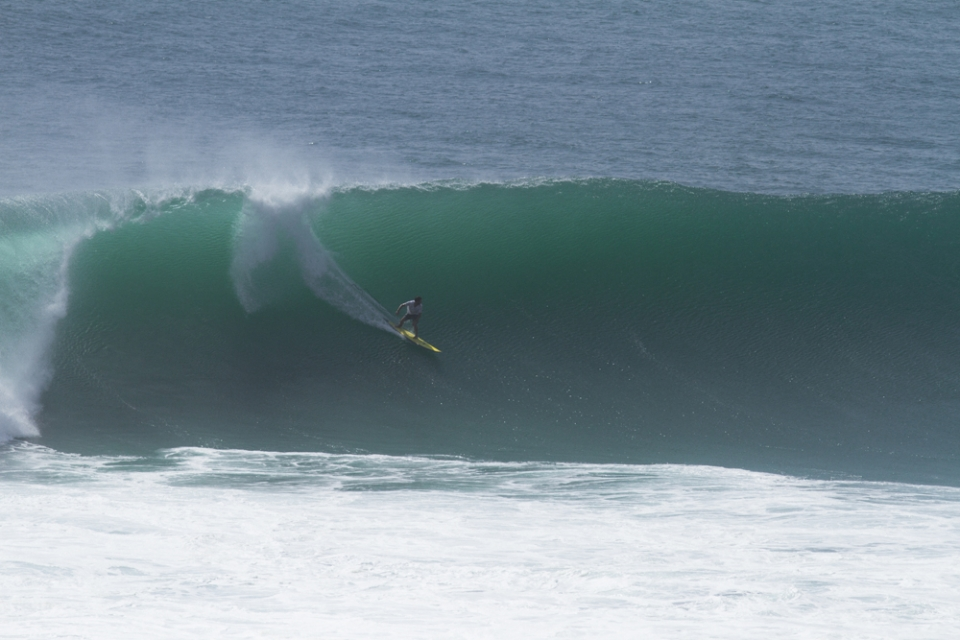 Bali resident John McGuirl is ever present at chunky Padang but here he sneaks off for an Outside Corner.