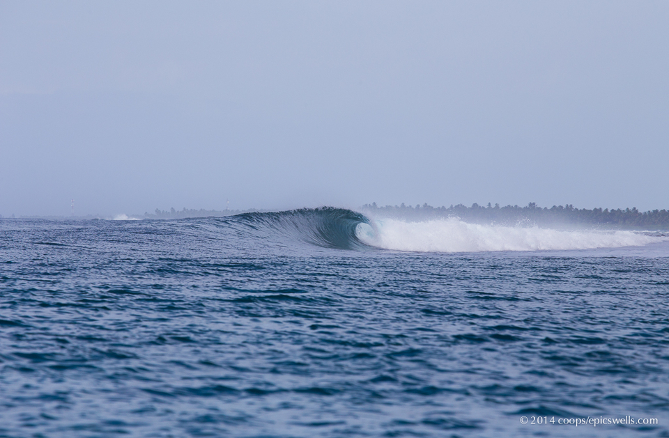 Wide open barrel in the Central Atolls late June  Cooper's charter began in North Male with some fun 3-4ft sessions at Jails, before heading to the Central Atolls in anticipation of some solid swell.