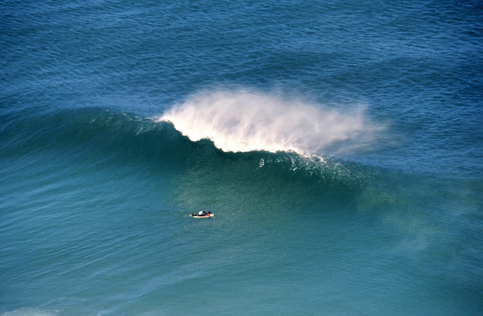 A typical view of a lonely Cape surfer enjoying some solitude, accompanied only by an ice-cream headache.