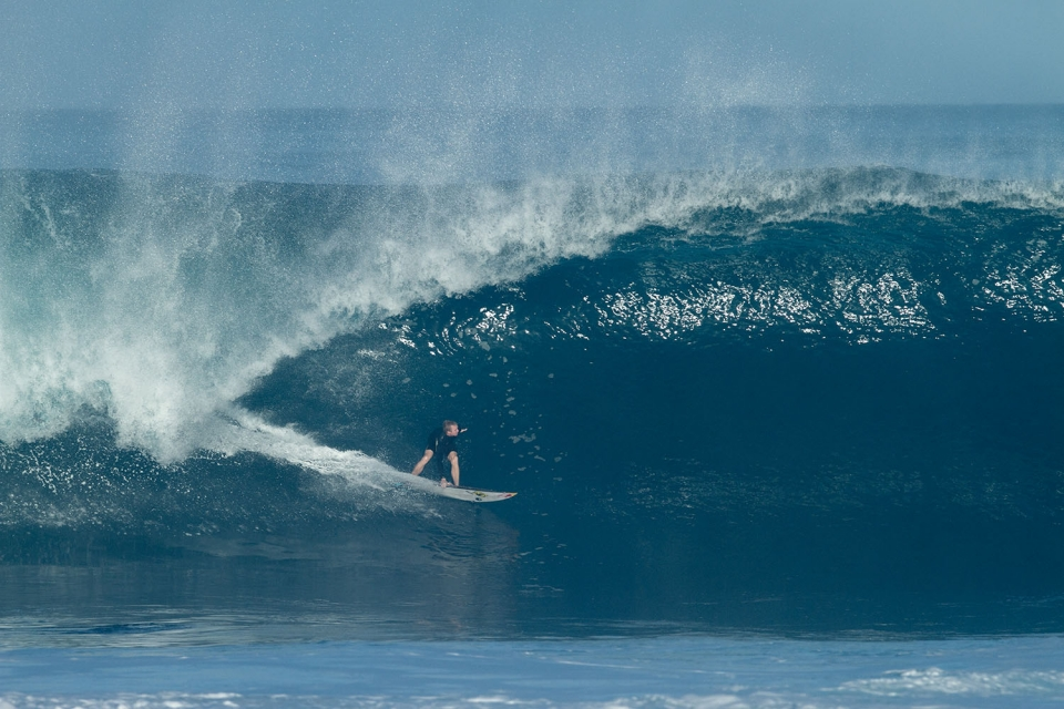 JOB's altercation with Recado Dos Santos left him without a wildcard at the Pipe Masters. Solid Pipe kegs such as this should quell the frustration.  Frame 1 of 7.