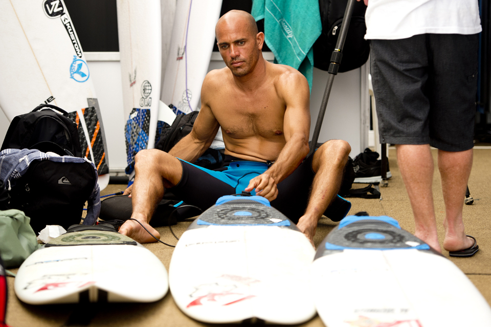 Sandwiched in the middle is the perennial Kelly Slater