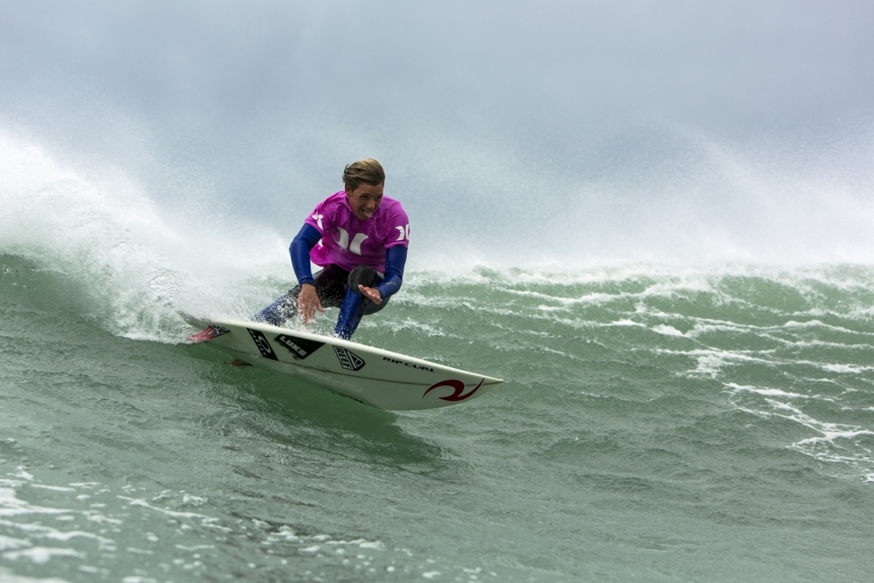 KobyOberholzer, son of legendary South African surfer Frankie Oberholzer. Koby's style and fluidity even at his young age are clearly a carbon-copy DNA imprint from his dad. He advanced into the final of the event.