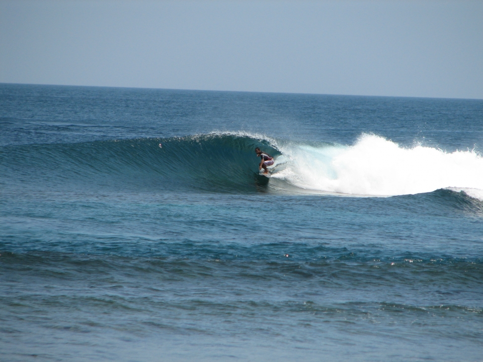 Local Boy Abdel Alecho showing us how it's done.
