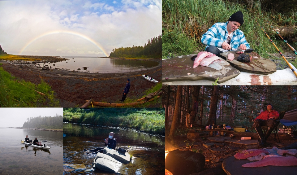 Camp life revolved around fishing, collecting wood and waiting for surf.