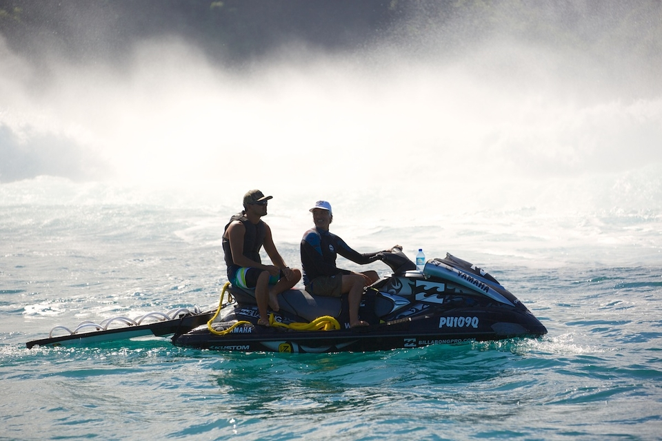 Manoa and his jet ski partner Hector Krauser.