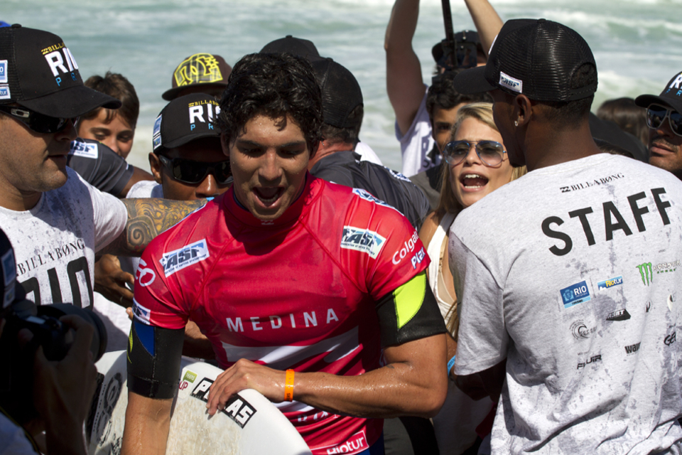 """""""After Bells Beach, I came home and worked with lots of doctors and rested for this event,"""" Medina said. """"It's home in Brazil for me and I want to do well in front of my family and friends. I'm feeling pretty good – getting stronger every day. Stoked to get a win in Round 1 and hope I can keep going throughout the event."""""""