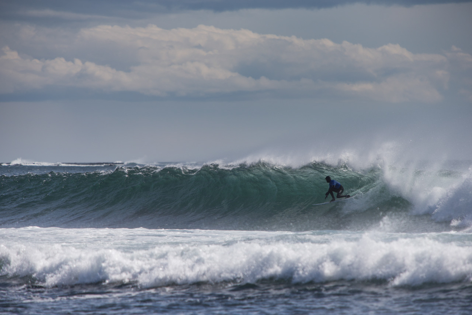 The weather dominated this trip. The Northern latitudes are normally a constant balancing act between swell direction and wind. Whilst conditions were always challenging, there were some fun waves to be had. William Aliotti braving the cold.