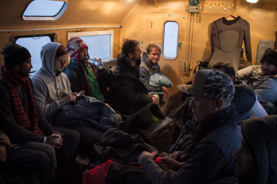 Kamchatka, on Russia's Pacific coast, was brought to the public eye by Tom Curren, who travelled there back in 2007, however, this is this trip is a somewhat larger affair. Taken en-route to the spot, this Nixon team shot reeks of travel fatigue.