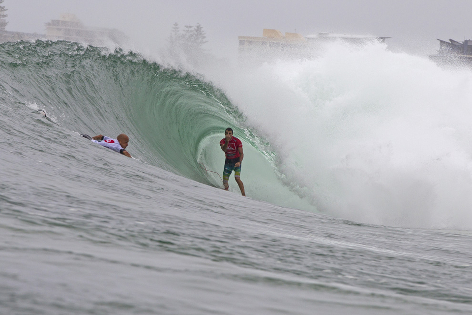 This is the image of Parko flicking Kelly the bird is already coming to define the comp. It was Kelly's priority so he did what all good competitors would.   ...