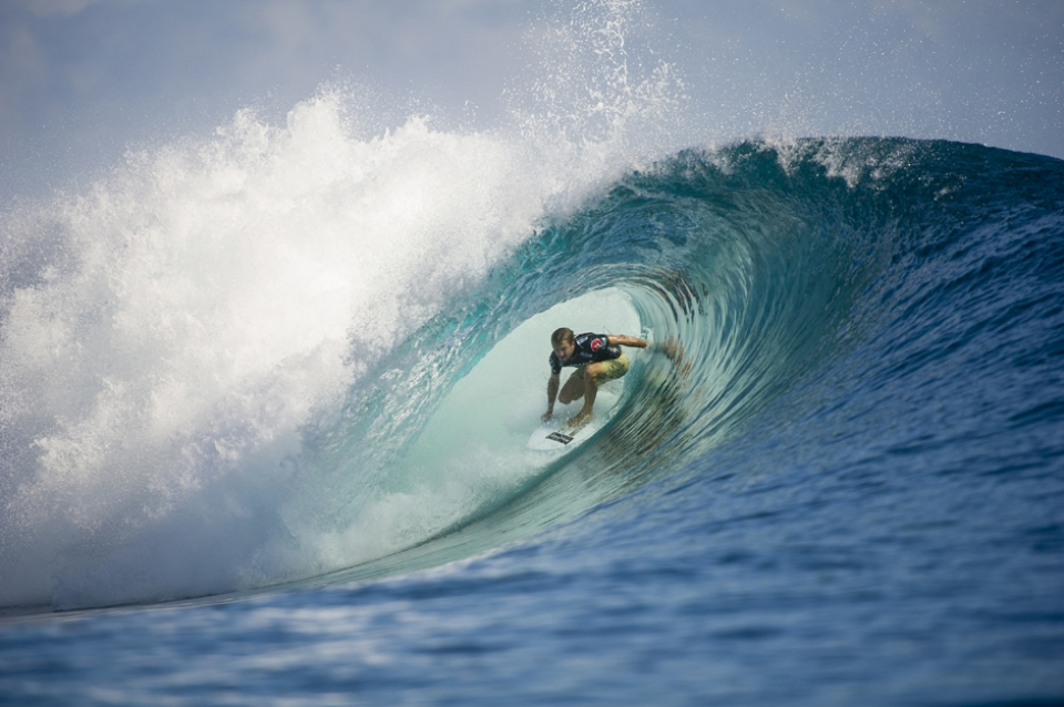 Kieren Perrow dominated  Julian Wilson and Bede Durbidge. He probably only needs to show up to three events a year: Fiji, Teahupoo and Pipe.