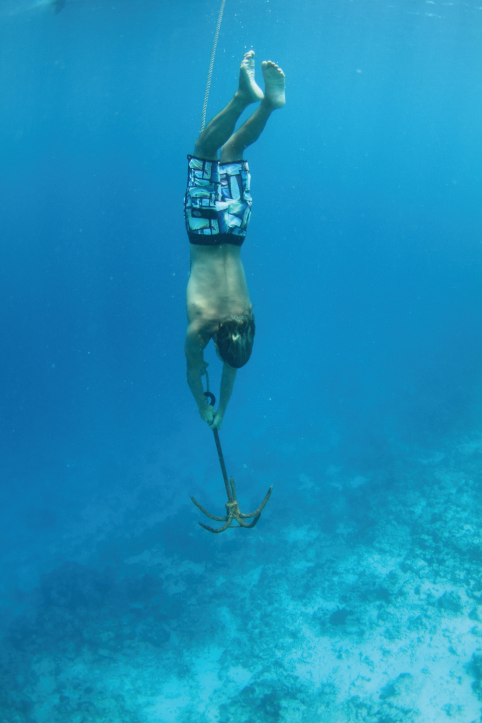 The water colour and visibility in the Maldives is unreal. This is me and Bailey playing fish bait.