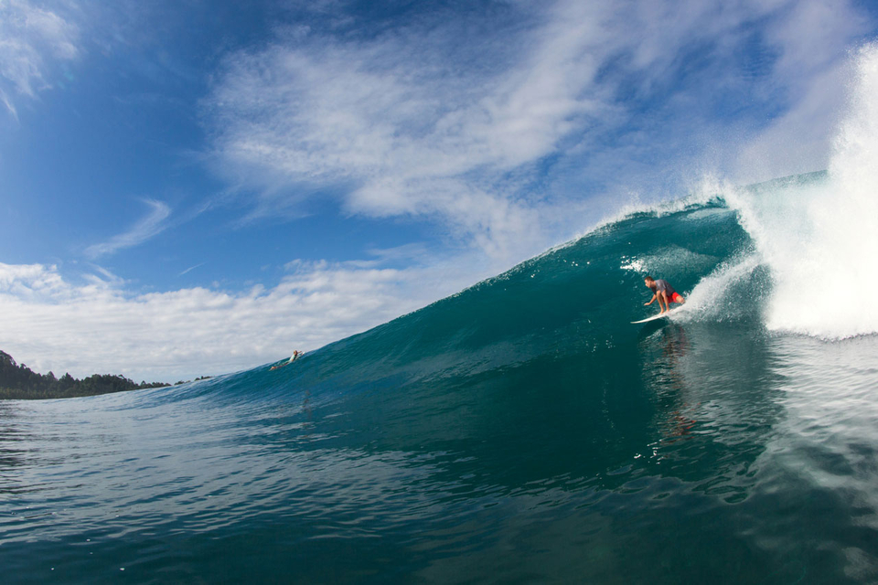 Sharing waves with mates doesn't get much better than this