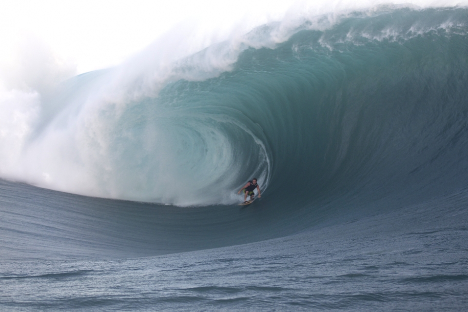 Kalani Chapman deep in the thick of it.