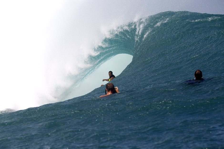 Blood in the Water at Teahupoo