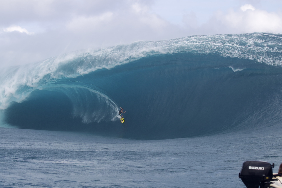 Teahupoo on May 14th 2013, Alain Riou called this
