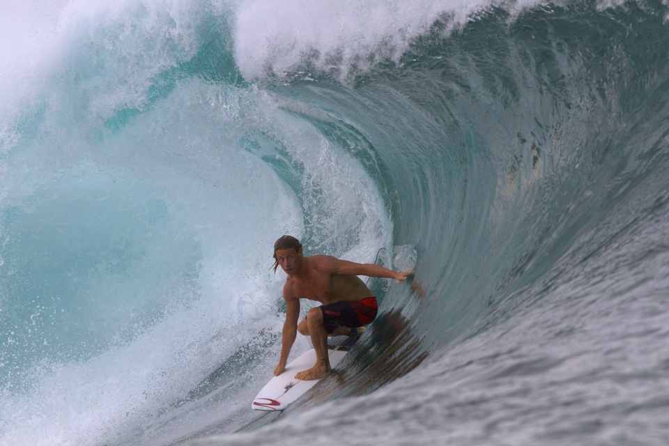 The swell of the month finds Jayce Robinson at Lakey Peak wondering why he ever doubted his call.