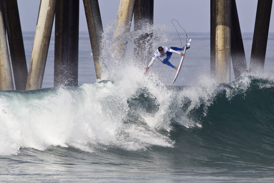 "Jadson Andre put in a strong opening performance.   ""I was looking for the big sets close to the pier,"" Andre said. ""Some of the rights are good and I knew it was going to be a hard first round. It's all about being on the set waves and Huntington is a tough place to compete. We saw it in Adriano's (de Souza) heat and I wanted to make sure I was on the good waves. I've been spending a lot of time here, I always stay with friend here and I love Huntington."""