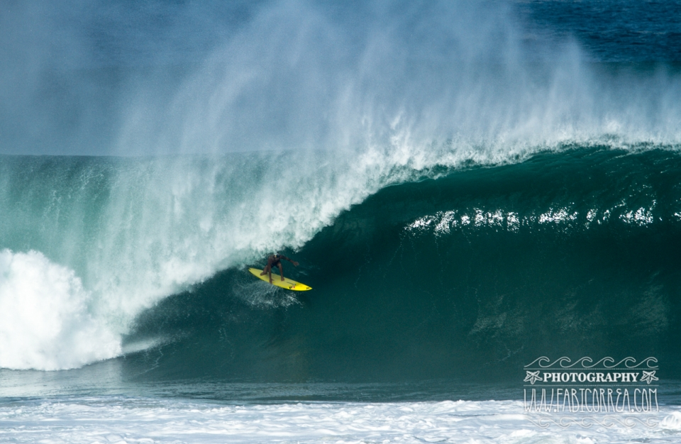 Coco Nogales, Puerto Escondido's local barrel riding legend.