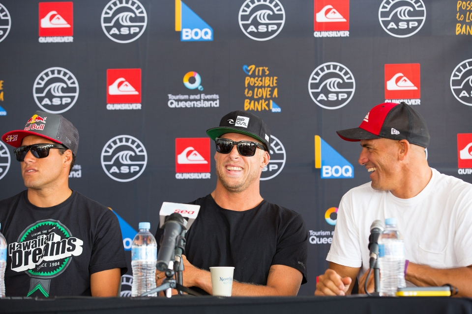 I think Adriano is going to be the 2014 world champ, Kelly Slater didn't say to Mick Fanning.