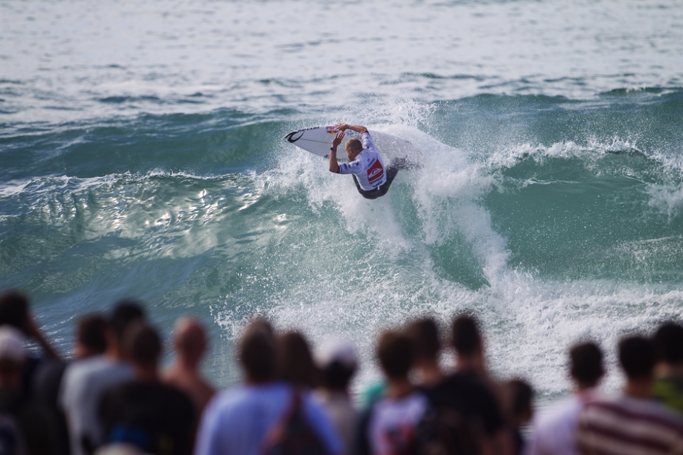When Mick won before they ended up having naked running races down the main street in Hossegor. Will that happen again?