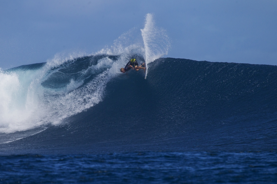Mick Fanning near the top...